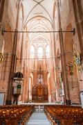 Riga Latvia. Nave Of St. Peter's Church. Central Part Of Interior Stock Photos