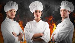 Professional team chef Kuvituskuvat
