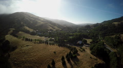 Aerial Lucas Valley Rural California San Francisco Bay Area Landscape 2 Stock Footage
