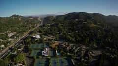 Aerial Marin County Rural California San Francisco Bay Area Landscape 2 Stock Footage