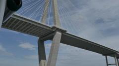 Charleston Bridge Cinematic from Underneath Stock Footage