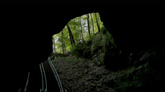 Historic Entrance Mammoth Cave Cinematic Stock Footage