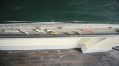 Chalkboard with chalk sticks Stock Footage