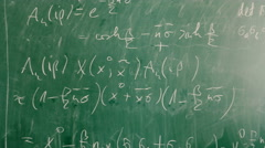 Chalkboard with mathematical formula Stock Footage