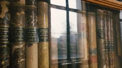 Old vintage best books Stock Footage