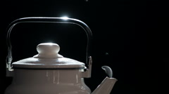 Jet of Steam from the Spout of the Kettle HD Pro Stock Footage