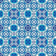 Beautiful seamless ornamental tile background. Vector illustration Stock Illustration