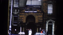 1961: going to the place to say i do to you. DUBLIN IRELAND Stock Footage
