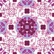 Arabesque seamless pattern in editable vector file Stock Illustration