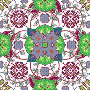 Italian traditional ornament, Mediterranean seamless pattern, tile, textile Stock Illustration