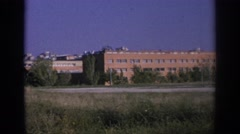 1966: city buildings in the distance. SPAIN Stock Footage