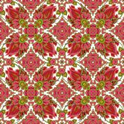 Vector mosaic background, ceramic tiles, majolica, seamless pattern Stock Illustration