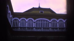 1966: a sturdy building standing. SPAIN Stock Footage