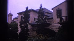 1966: spanish style mansion home on top of a hill SPAIN Stock Footage