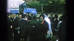 1966: congratulations to the bride and groom. SPAIN Stock Footage