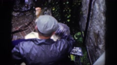 1961: practicing about body flexible DUBLIN IRELAND Stock Footage