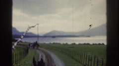 1961: on a horse-drawn carriage ride on the coast of ireland DUBLIN IRELAND Stock Footage