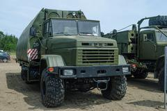 Pontoon equipage PP-91 on the basis of KRAZ Stock Photos