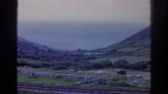 1961: vast open coastal rocky valley IRELAND Stock Footage