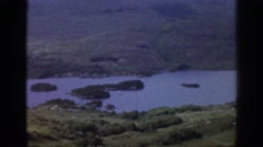 1961: areal river view IRELAND Stock Footage