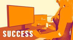 Success Concept Course Stock Illustration