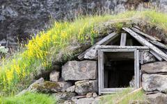 Abandoned Icelandic houses Stock Photos