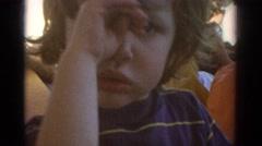 1971: adorable, innocent, blue-eyed baby boy. MIAMI FLORIDA Stock Footage