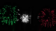 Italian flag fireworks display Stock Footage