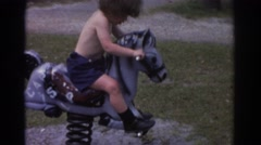 1971: can't ride on the pony MIAMI FLORIDA Stock Footage