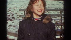 1971: happy child enjoying a winter day BEDFORD VIRGINIA Stock Footage