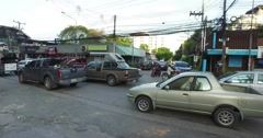 4k - nimman road chiang mai - pan Stock Footage