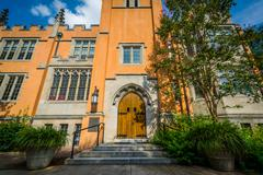 The exterior of Trinity Episcopal Cathedral, in Columbia, South Carolina. Stock Photos