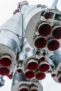 Engines and nozzle Launch vehicle Stock Photos