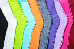 Textile colorful socks Stock Photos
