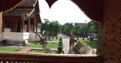 4k - Wat Pra Singh temple - walking tour Stock Footage