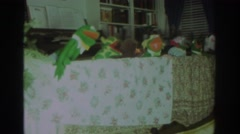 1972: children indoor having gala time with hand puppets TORONTO CANADA Stock Footage