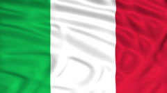 Italian flag italy nation Stock Footage