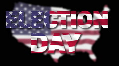 American election day black Stock Footage