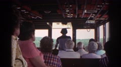 1976: tourists riding on a riverboat. WATKINS GLEN NEW YORK Stock Footage
