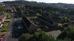 Aerial view of a British housing estate. Stock Footage