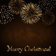 Merry Christmas firework background Piirros