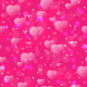 Seamless pattern with fuzzy hearts on pink background. Vector illustration Stock Illustration
