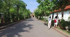 4k - Wat Pra Singh temple - walking Stock Footage