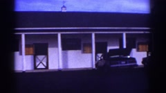 1976: view of an old fashioned motel. WATKINS GLEN NEW YORK Stock Footage