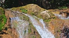 Waterfall Jur-Jur, Crimea, Ukraine Stock Footage