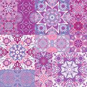 Set of seamless pattern. Seamless abstract pattern frame of trendy colored Stock Illustration