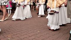 Catholic holiday - Corpus Christi Procession Stock Footage