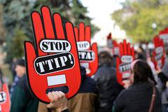 Anti TTIP protest Stock Photos