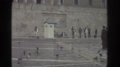 1976: changing of the guard at a military post. GREECE Stock Footage