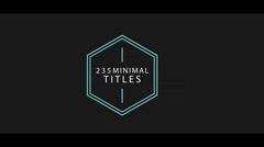 235 Lower Thirds and Titles 4K CS4 Stock After Effects